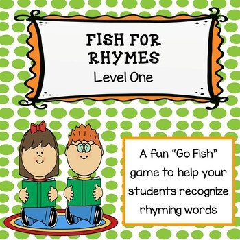 Fish for Rhymes Level 1: A Rhyming Go Fish Game