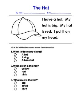 Comprehension Multiple Choice Check