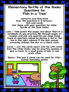 Fish in A Tree EBOB  Questions