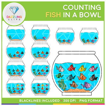 Fish in a Bowl Counting Clip Art