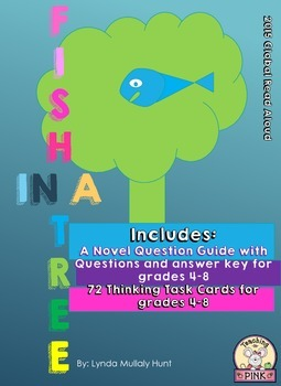 Fish in a tree novel study and task cards by teaching n for Fish in a tree