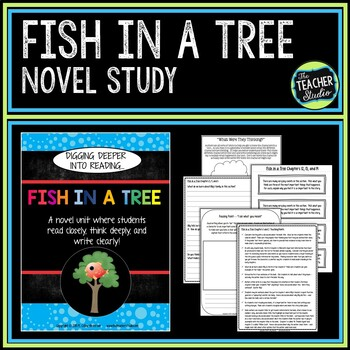 """Fish in a Tree Bundle: Novel Study and """"After You Read"""" Companion"""