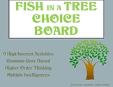Fish in a Tree Choice Board Tic Tac Toe Novel Activities Menu Assessment Project