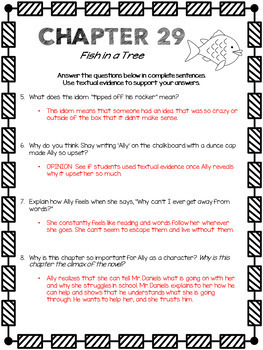 Fish in a Tree Novel Study Guide