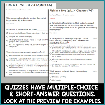 Fish in a Tree Novel Study for Google Classroom