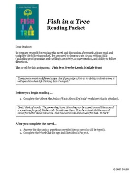 Fish in a Tree Reading Packet