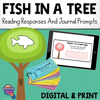 Fish in a Tree Reading Responses & Journal Prompts Set 0f