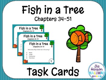 Fish in a Tree Task Cards (Chapters 34-51)