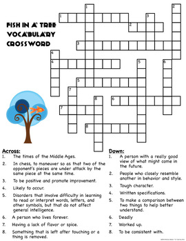 Fish in a Tree Vocabulary Packet