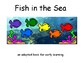 Fish in the Sea COLOR Adapted BOOK, Speech Therapy, Autism, Early Childhood