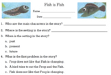 Fish is Fish Comprehension Test & Sequencing Cards