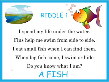 Fish is Fish PowerPoint, Smartboard activities and worksheet