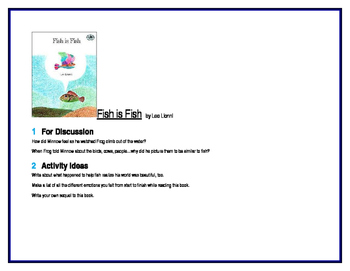 Fish is Fish for Guided Reading