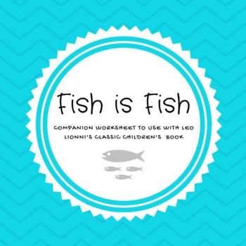 Fish is Fish labeling worksheet