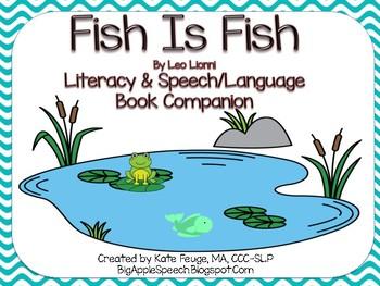 Fish is Fish Leo Lionni literacy and speech/language book