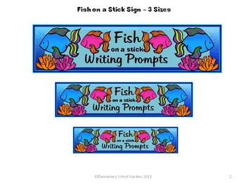 Fish on a Stick - Summer Writing Prompts and Stationary