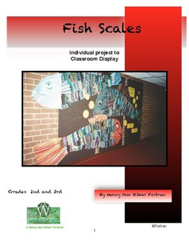 Fish or  Dragon Scale Group Visual Arts Lesson for 2nd and 3rd Grade