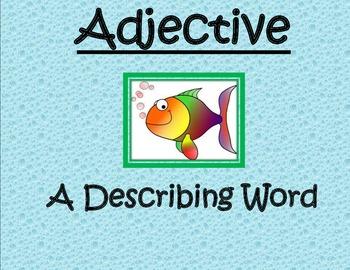 Fish themed- Noun verb adjective