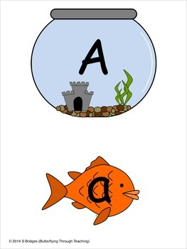 Fish themed capital and lowercase letters