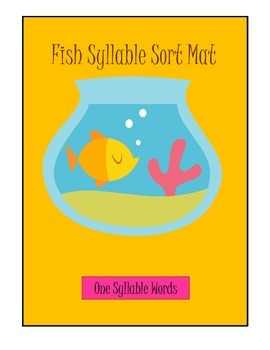 Fish One, Two, Three and Four Syllable Sort game learning center activity