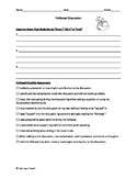 Fishbowl Discussion Checklist and Notes handout