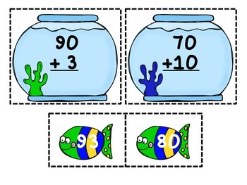 Fishbowl Frenzy-CCSS Math Grade 1-addition within 100