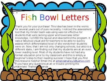 Fishbowl Letters