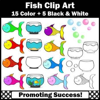 Fishbowl and Fish Clipart, Aquarium Clip Art, SPS