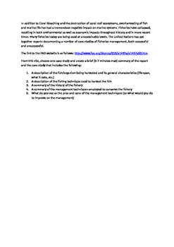 Fisheries Management Techniques Research Presentation Project