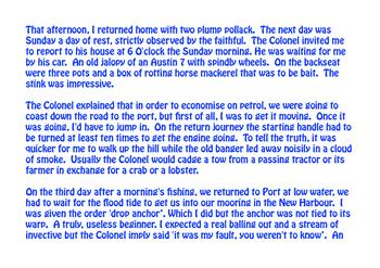 Fishermen's Tales: 'The Colonel'