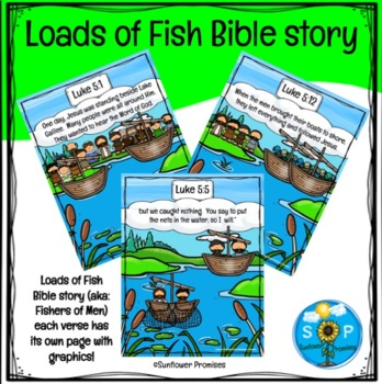 Fishers Of Men Bible Story / Load Of Fish Scripture Cards