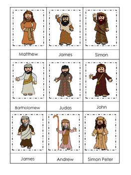 Fishers of Men 3 Part Matching printable game. Preschool Bible Study Curriculum