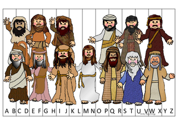 Fishers of Men A-Z Sequence Puzzle printable game. Preschool Bible Study Curricu