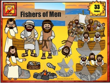 Fishers of Men Clip Art: Bible Story Series by Charlotte's Clips