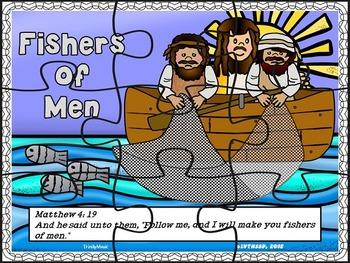 Jesus & Fishers of Men (Pop-Ups, 2-D, Writing & Puzzle Activities)