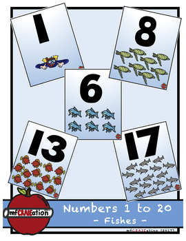 Fishes - Numbers 1 to 20