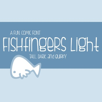 Fishfingers Light Font for Commercial Use