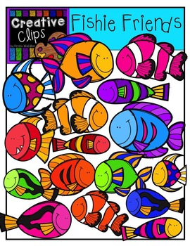 Fishie Friends {Creative Clips Digital Clipart}