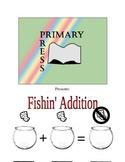 Fishin' Addition: Addition Worksheet for Kindergarten