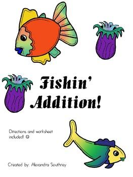 Fishin' Addition Math Center