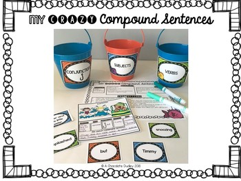 Fishin' For a Compound Sentence / Grammar Activity