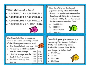 Fishin Fun - Place value (expanded, word and standard form)