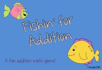Fishin' for Addition Math Game FREEBIE