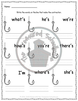 """Game Mat for """"Be"""" Contractions"""