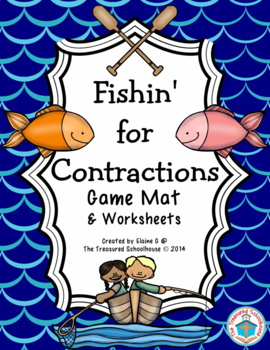 """Game Mat for """"Be"""" Contractions - Fishing"""
