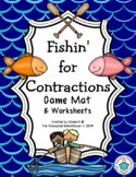 "Game Mat for ""Be"" Contractions - Fishing"