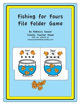 Fishin' for Fours Folder Game - FULL COLOR