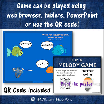 Fishin' for Melody (Sol Mi) Interactive Music Game FREEBIE