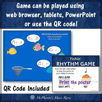 Fishin' for Rhythm (Half Notes) Interactive Music Game