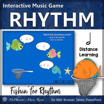 Music Game: Half Notes Interactive Rhythm Game {Fishin'}